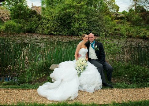 Bride and Groom Chilworth Manor