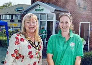 Basepoint Centre Manager Vicky with the Mayor of Test Valley