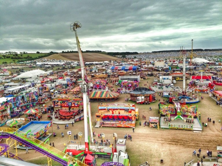 Funfair from above
