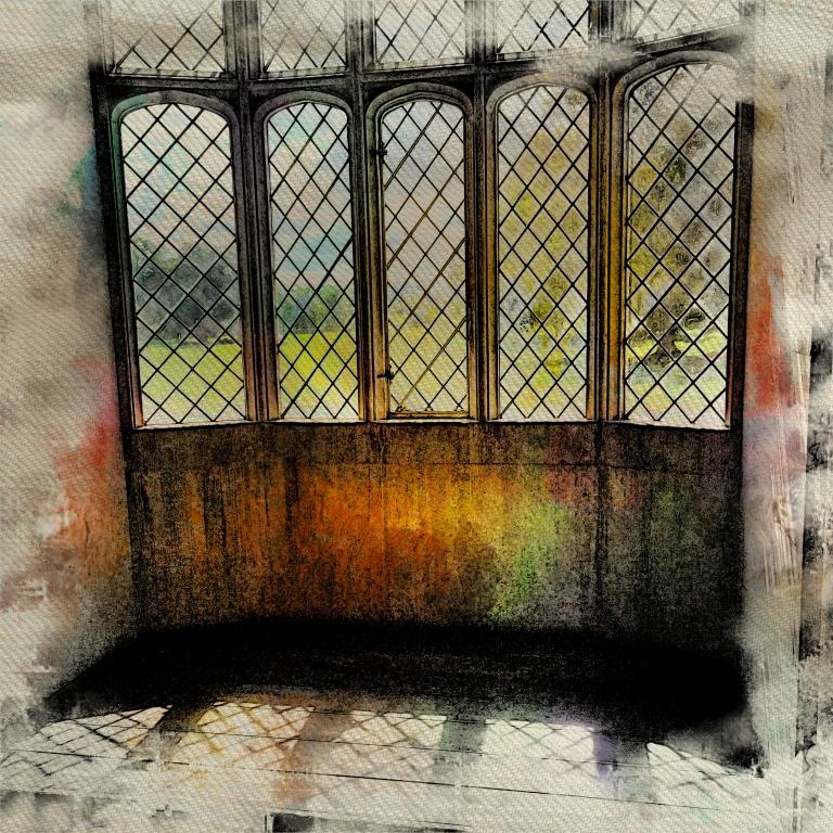 The famous window in Lacock Abbey