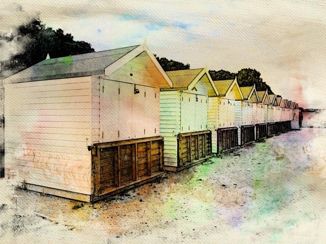Beach Huts on Avon Beach