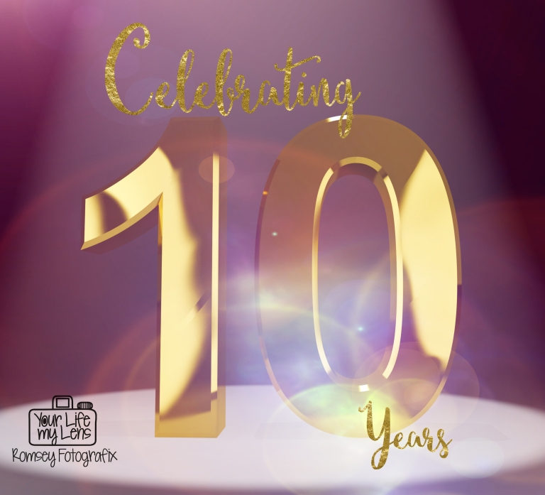 Gold 10th Or Ten 3d Number Closeup Representing Anniversary Or Birthday
