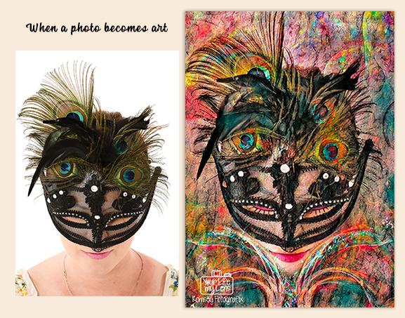 Photo becomes art